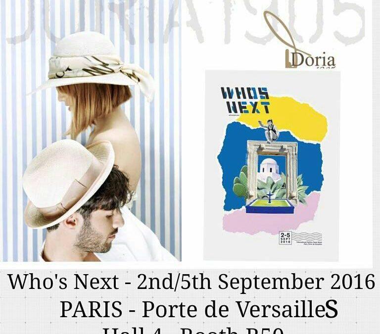 DORIA 1905 at WHITE TRADE SHOW 24-25-26 SEPTEMBER 2016, Milano