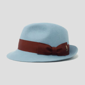 Cappello Trilby in Feltro di Lapin con CInta in Grosgrain e Fiocco Doria