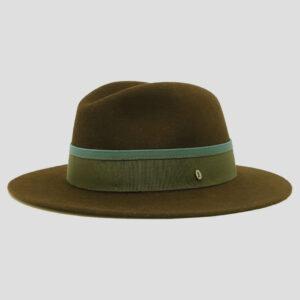 Cappello Fedora in Feltro di Lapin Superior con Cinta in Grosgrain