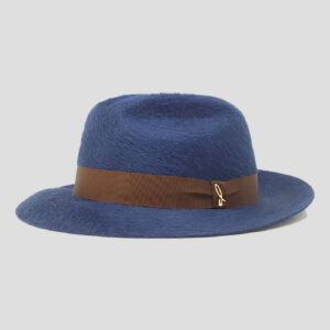 Cappello Fedora in Feltro di Lapin Melousine con Cinta in Grosgrain