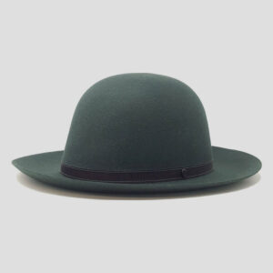 Cappello Arrotolabile in Feltro di Lapin con Cinta in Grosgrain