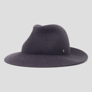 Cappello Arrotolabile in Feltro Mix di Cahmere e Lapin Finitura Satin