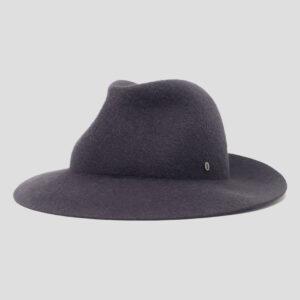 Cappello Arrotolabile in Feltro Mix di Cahmere e Lapin Finitura Satin