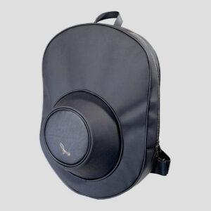 Zaino Porta Cappello in Pelle Suede e Tessuto Gommato Impermeabile