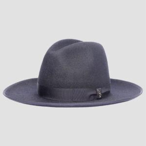 Cappello Fedora in Feltro con Testa Alta e Ala Larga