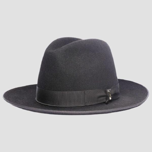 Cappello Fedora in Feltro con Testa e Ala Larga