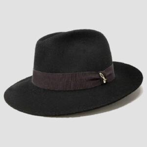 Cappello Fedora in Feltro Negroamaro
