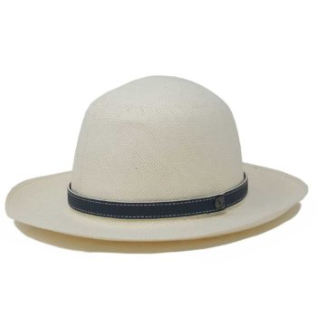 Antigua Rollable Hat White Navy Blue