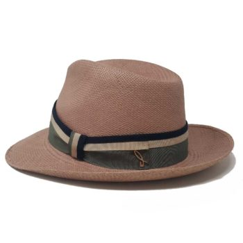 Caleb Panama Hat Brown Multicolor