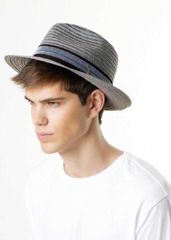 Cataldo Hemp Braid Drop Hat Grey for Man