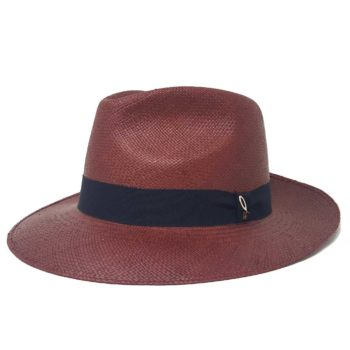 Panama Hat Drop Medium Brim Negroamaro color Doria 1905