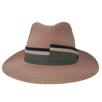 Drop Panama Hat Brown Multicolor