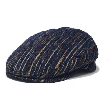Golf Striped Tweed Classic Flat Hat