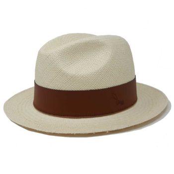 Hatton Fedora Panama Hat White Rust Doria 1905