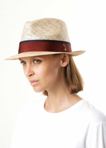 Joshi Fedora Hat Bao Straw Natural for Woman Doria 1905