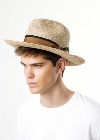 Mirto Cappello Fedora di Paglia Naturale indossato Doria 1905