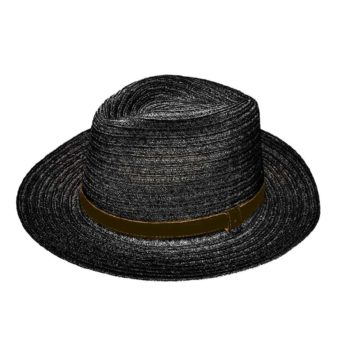 Orlando Drop Hat Black and Cocoa