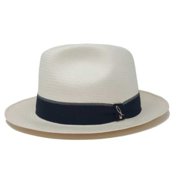 Palermo Panama Hat White Blue