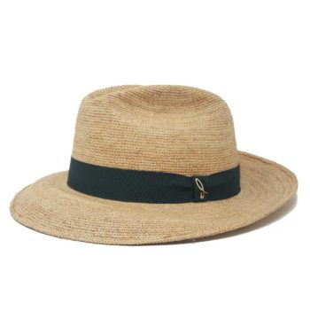 Classic Fedora Hat Natural Green Doria 1905