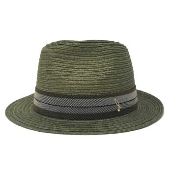 Rinaldo Hemp Braid Fedora Hat Green Doria 1905