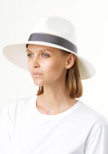 Positan Cappello Panama Ala Larga Bianco indossato Doria 1905