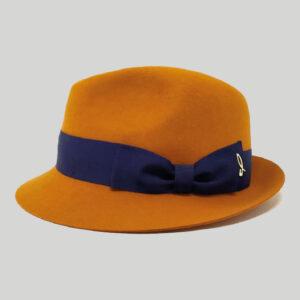Cappello Trilby in Feltro con Cinta in Gros Grain Modello Arsenio