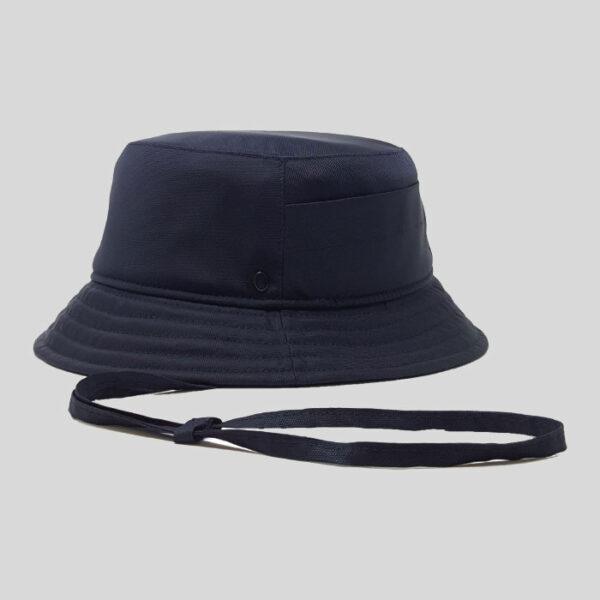 Cappello Bucket in Tessuto Impermeabile e Rete Tecnica con Laccio Modello Boris