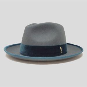 Cappello Drop in Feltro con Cinta e Profilo in Velluto Modello Delage