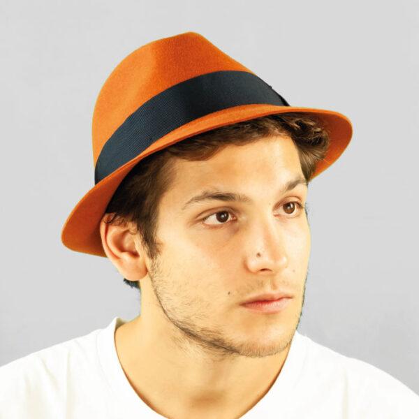 Cappello Trilby di Feltro di Lapin Rasato