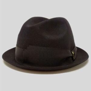 Cappello Fedora ad Ala Piccola in Feltro con Cinta in Gros Grain e Fiocco Modello Funky J