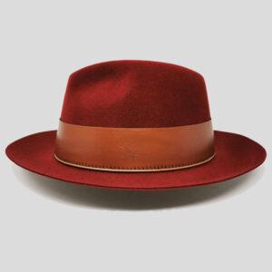 Cappello Drop in Feltro di Lapin Suede e Cinta di Cuoio Modello Hatton