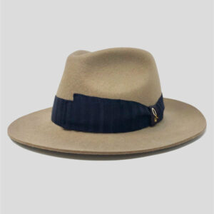 Cappello Drop in Feltro di Lana Waterproof con Cinta Gros Grain Modello Jigen
