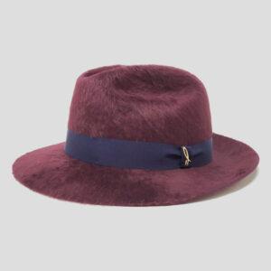 Cappello Fedora ad Ala Media in Feltro Melousine e Cinta Gros Grain