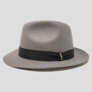 Cappello Fedora in Feltro di Lana e Cinta Gros Grain Modello Vittorio
