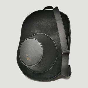 Zaino Porta Cappello in Tessuto con Dettagli e Scocche in Pelle
