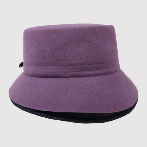 Cappello Bucket in Feltro di Lana con Rete Tecnica e Regolatore di Taglia