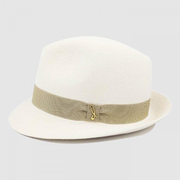 Cappello Trilby Bianco