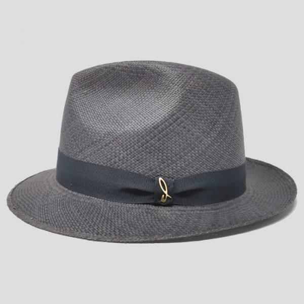 Cappello Panama Modello Fedora ad Ala Piccola con Cinta Gros Grain