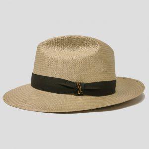 Cappello Panama Modello Fedora ad Ala Media con Cinta Gros Grain
