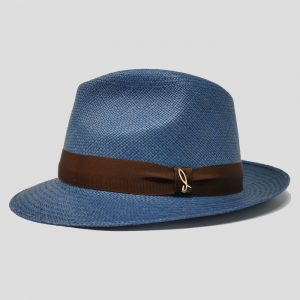 Cappello Panama Modello Drop ad Ala Piccola con Cinta Gros Grain