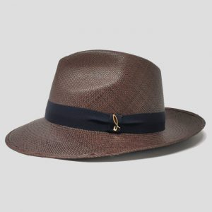Cappello Panama Modello Drop ad Ala Media con Cinta Gros Grain