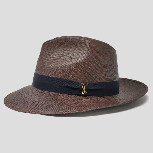 Cappello Panama Modello Drop ad Ala Media con Cinta Gros Grain