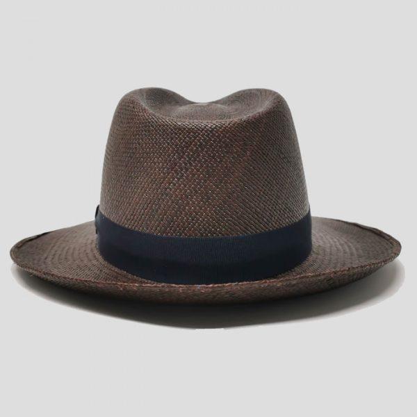 Cappello Panama Cioccolato Cinta Abisso