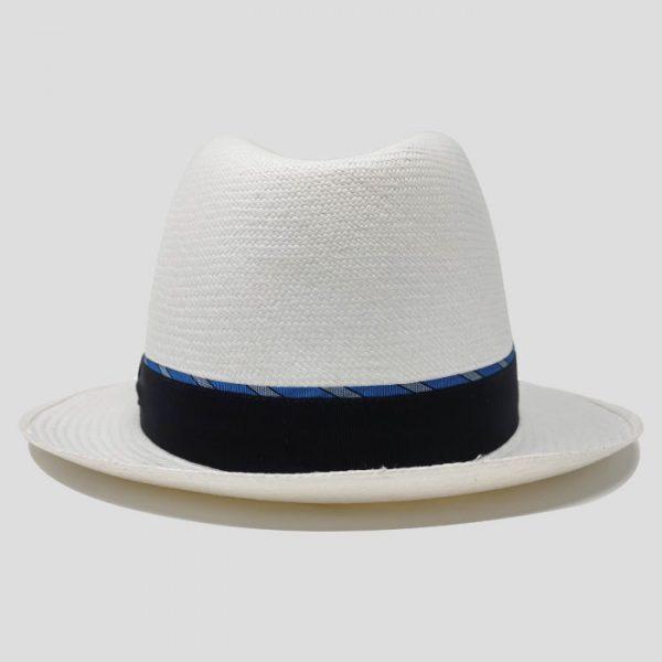 Cappello Panama Fine con Cinta Blu