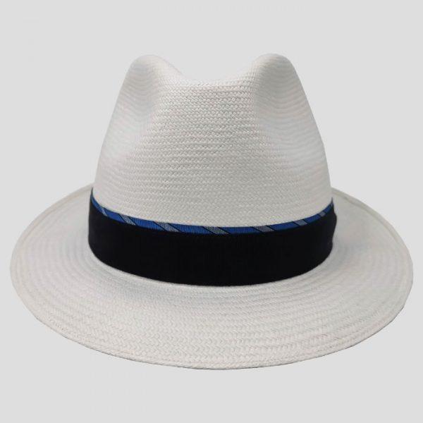 Cappello Panama Bianco Cinta Blu
