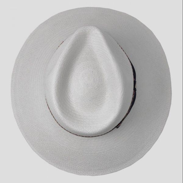 Cappello Bianco con cinta blu