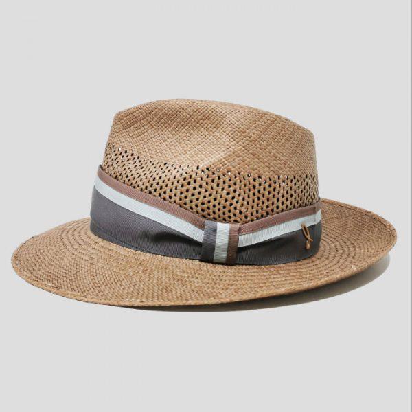 Cappello Panama Brisa Modello Drop con Cinta Gros Grain Rigata
