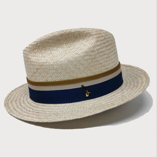Cappello Panama Orientale Modello Fedora con Cinta Gros Grain
