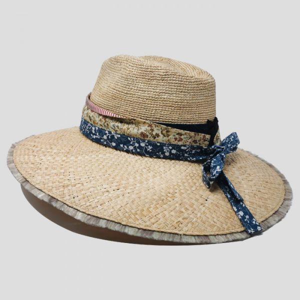 Cappello di raffia con cinta