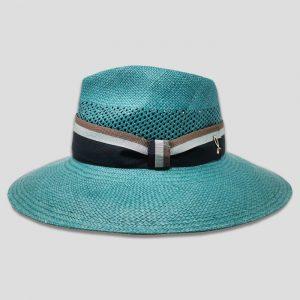 Cappello Panama Brisa ad Ala Larga Modello Drop con Cinta Gros grain